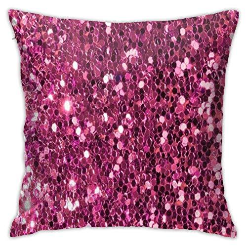 Funda para cojín de tiro fundas para cojines con lentejuelas rosa rosa cómodo cojín cuadrado para la decoración de la piel ropa de cama para la casa regalo 18 x 18 cm