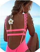 New Sexy One Piece Swimsuit Hollow Out Swimwear Women Monokini Print Bodysuit Bandage