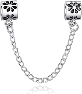 Qings Charms Floral Safety Chain fit Bracelet