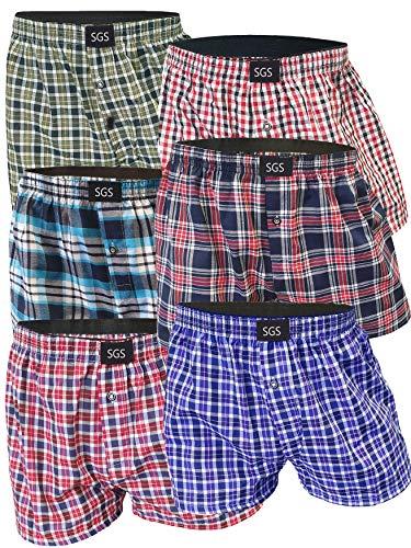 Set van 6 sportboxershorts voor heren ondergoed sets onderbroeken voor mannen van katoen met gulp Smurfen man