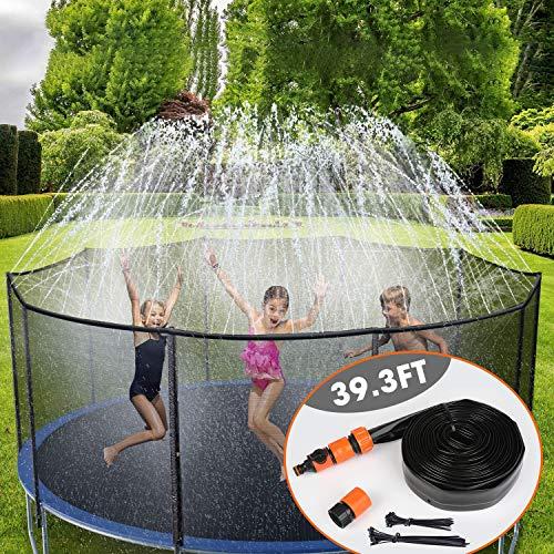 Urbenfit Spruzzatore per Trampolino Parco Acquatico con spruzzo per Trampolino, Spruzzatore per Acqua per Trampolino, Giardino Trampolino Water Sprinkler per Bambini