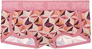 PINK Logo Boyshort Panty Pink Rally Prism
