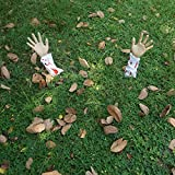 JOYIN Realistic Looking Bloody Arm Lawn Halloween Yard Stakes, Groundbreakers for Halloween Yard Decorations