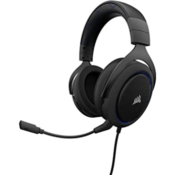 CORSAIR HS50 - Stereo Gaming Headset - Discord Headphones - Designed to Work with Playstation 4 (PS4) - Blue (Renewed)