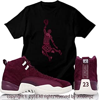 a2c957c495e Custom T Shirt Air Jordan XII Retro 12 Bordeaux Sail White JD 12-7-