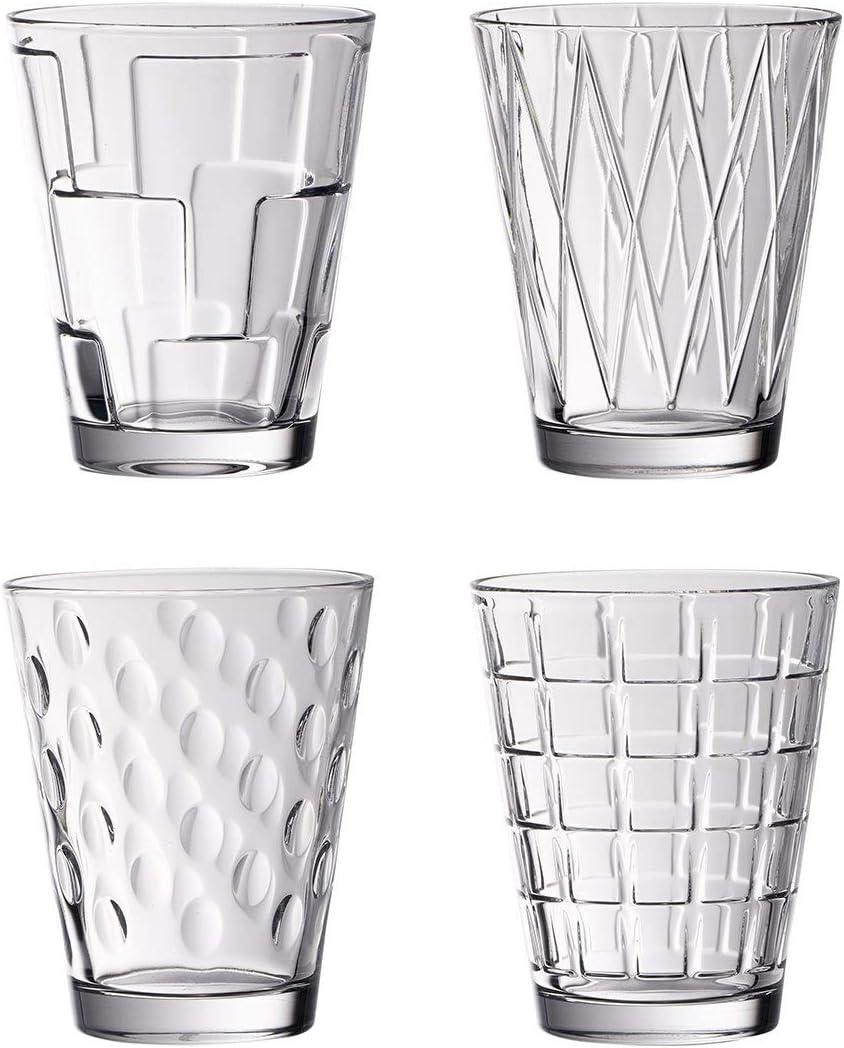 Villeroy & Boch Dressed Up Vasos de agua, Set de 4 piezas, 310 ml, Cristal, Transparente