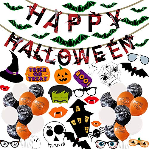 ECHOU Halloween Fiesta decoracin escenas Muebles Set Bandera de Halloween Tirando Globos Photo Props.