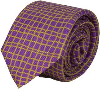 40 Colori - Cravatta in seta stampata a griglia irregolare