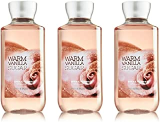 Bath and Body Works Warm Vanilla Sugar Signature Collection Shower Gel, 10 oz, new packaging (3 Pack)