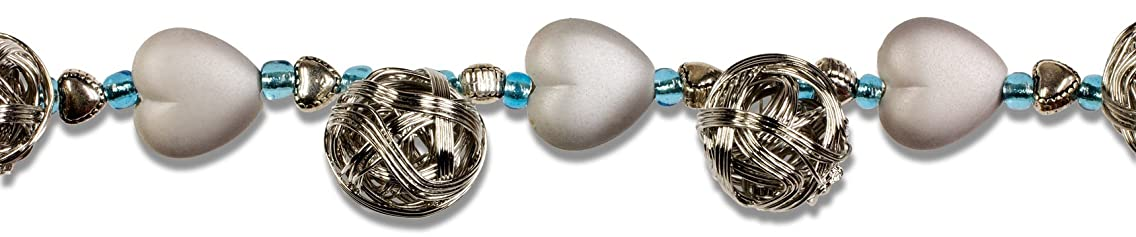 Cousin Jewelry Basics Matted Silver/Metal Wire Balls Beads, 8-Inch by 20.3cm