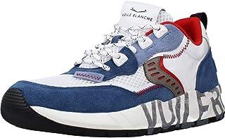 VOILE BLANCHE CLUB01-Sneaker in Suede e Tessuto Tecnico