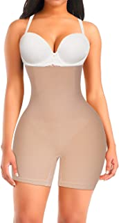 Irisnaya Shapewear for Women Tummy Control Butt Lifter High Waist Panty Compression Shorts Waist Trainer Body Shaper
