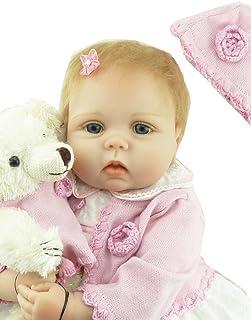 9580015ca01 ZIYIUI Handmade Réaliste Reborn Baby Doll Fille en Sillicone Bébé Poupée  Nouveau-née Réaliste 55