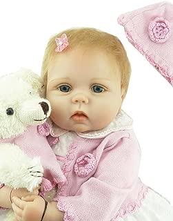 ZIYIUI 22 Inch 55 cm Muñeca Reborn Baby Dolls Hecho a Mano Vinilo de Silicona Suave Realidad Bebé Recién Juguete magnético Niño