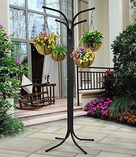 Popamazing 175 cm/altezza 175,26 cm (69') da giardino, con 4 bracci Tree Cascade-Vaso a sospensione, per piante, con supporto da giardino