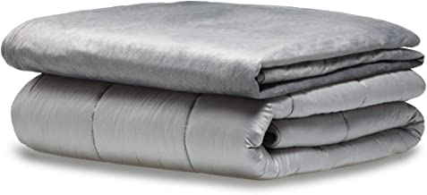 "Snuggle Pro Premium Weighted Blanket Set, 15lbs (Twin/Full Size 48""x72"" - Gray), Breathable, Washable, Hypoallergenic & He..."