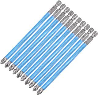 "uxcell 10pcs 127mm Long 1/4"" Hex Shank 6PH2 Anti-slip Phillips Screwdriver Bits S2 High Alloy Steel"