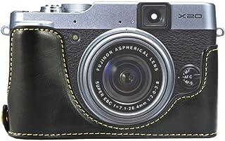 First2savvv XJPT-X20-D01 Custodia Fondina in pelle sintetica per macchine fotografiche reflex compatibile con Fuji FujiFil...