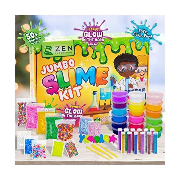 DIY Slime Kit Toy for Kids Girls Boys Ages 5-12, Glow in The Dark Glitter Slime Making Kit - Slime Supplies w/ Foam… 8