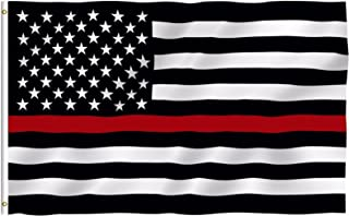 ALBATROS Thin RED LINE Flag FIREMENS Lives Matter Fireman Firewoman Support Banner for Home and Parades, Official Party, All Weather Indoors Outdoors