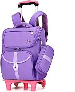 Elementary School Backpack Multifunctional Pulley Trolley Bag Breathable To Reduce The Load And Splash-Proof