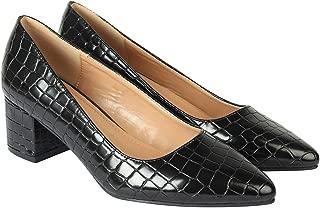 Flat n Heels Womens Black Pumps FnH 2255-Q12A-BK