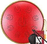 Tambor de la lengua de acero Tambor de la lengua de acero, 14 pulgadas 9 notas D Key Dry Hang Drum Drum Handpan Drum Percussion Instrumento, con bolsa de viaje, para la educación musical Concierto Men