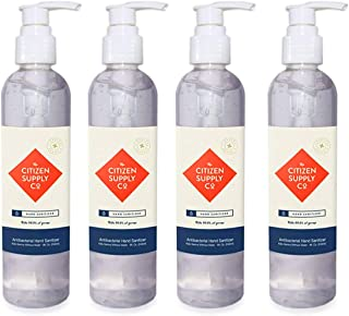 The Citizen Supply Co. – Hand Sanitizer Gel – Medical Grade – Contains 70% Ethyl Alcohol - Kills 99.99% of Germs - Made in...