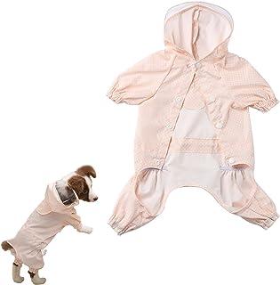 Transparente pl/ástico Poncho Chubasquero para peque/ño o Mediano Perros LONG-C Mascota Perro Chubasquero Poncho,con Capucha Impermeable Chaqueta Abrigo