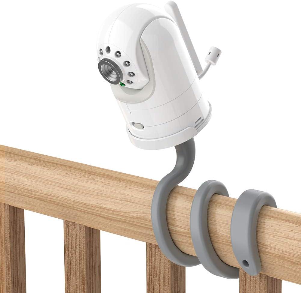 Adjustable Crib Mount for Infant Optics DXR-8/Pro/Motorola Baby Monitor, Versatile for Infant Optics Baby Monitor Versatile Twist Holder Without Tools or Wall Damage(Gray)