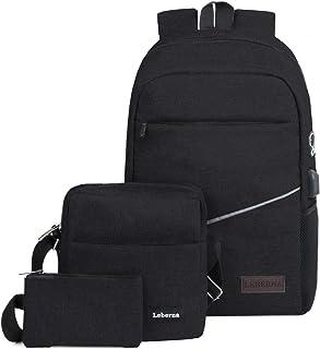 3PCS/Set Laptop Backpack Men Women Business Backpacks with USB Port Travel Casual Student School Bag for Teenager