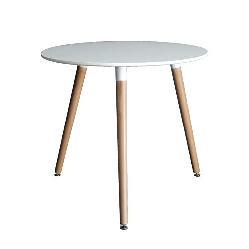 Inspirer StudioR Eames Style Side Table With Natural Wood Legs Eiffel Dining Room Lounge