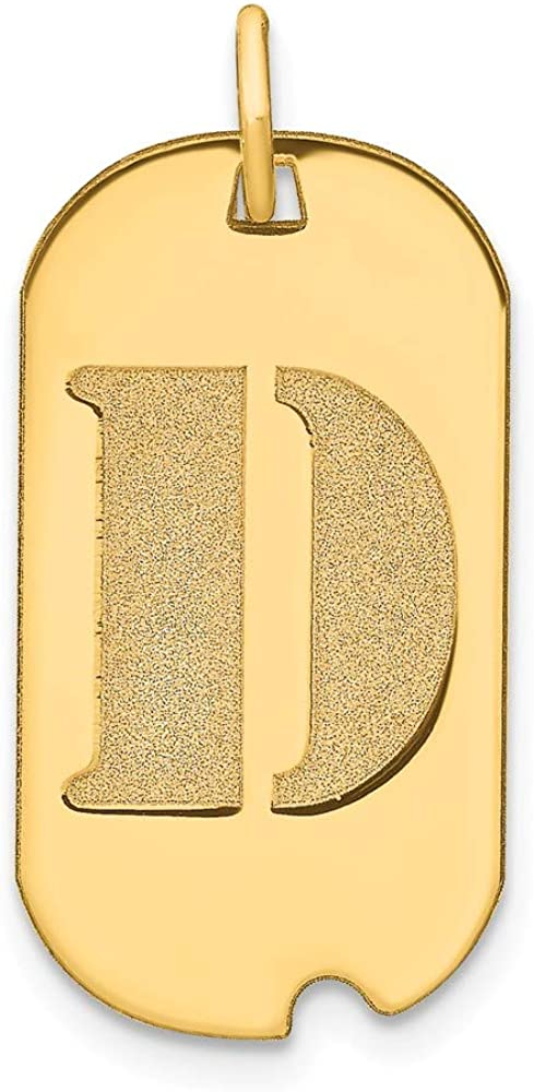 Solid 14k Yellow Gold Letter D Dog New color Charm Pendant Indefinitely Initial Tag