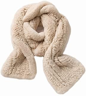 Real Rex Rabbit Fur Scarf Men Women Long Neckerchief Winter Warm Soft