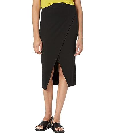 LAmade Overlap Midi Skirt in 2x1 Modal Rib