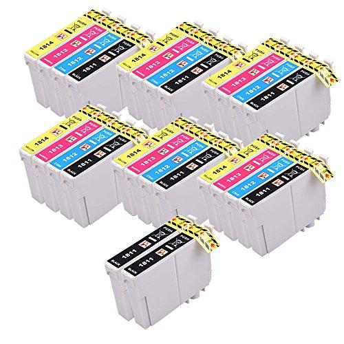 26 PerfectPrint compatibili 18 XL cartucce d'inchiostro della serie per Epson Expression Home XP-102 XP-202 XP-212 XP-215 XP-205 XP-225 XP-30 XP-302 XP-305 XP-312 XP-315 XP-322 XP-325 XP-402 XP-412 XP-415 XP-405 XP-405 XP-405WH XP-422 XP-425 Stampanti T1816, 8x T1811 Nero, 6x T1812 Ciano, 6x T1813 Magenta, 6x T1814 Giallo