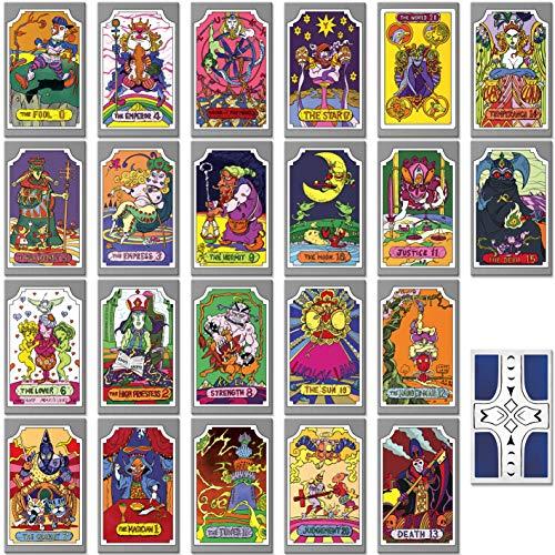Instabuy Jojo Bizzarre Adventure - Manojo de Cartas de Tarot (22 Cartas del Tarot)