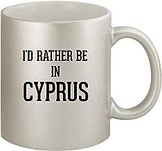 I'd Rather Be In CYPRUS - Ceramic 11oz Silver Coffee Mug, Silver
