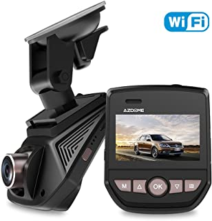 Dash Cam WIFI Dash Cameara 1080P FHD AZDOME Driving Recorder 6 Lane 170° Wide Angle Car DVR Adjustable Lens Dashboard Camera Recorder with G-Sensor, Loop Recording, Motion Detection, Parking Monitorin