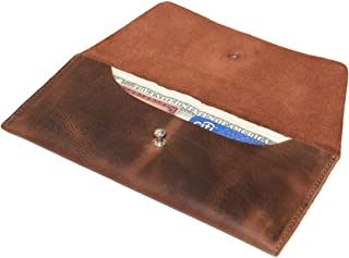 Hide & Drink, Leather Utility Pouch/Wallet/Accessories/Cover/Travel Gear/Hand Bag, Handmade Includes 101 Year Warranty :: Bourbon Brown