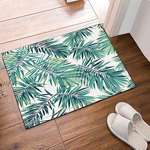 gohebe tropischen Pflanzen Decor Phoenix Palm Blätter Bad Teppich Rutschfest Boden Eingänge Outdoor Innen vorne Fußmatte 60x 40cm Badvorleger Badematte Bad Teppiche