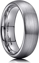 King Will TYRE 2mm 4mm 6mm 8mm Tungsten Carbide Ring Wedding Band Domed Brushed Finish Comfort Fit