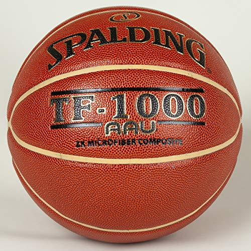Spalding TF-1000 ZK Size 7, 29.5 Inch W/AAU Decoration (Amateur Athletic Union) Deep Channel Design - Channel in Gold Color