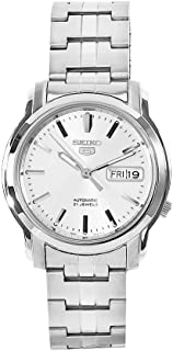 Seiko Men's SNKK65 5 Stainless Steel Siver Dial Watch