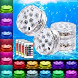 Swimming Pool Lights Submersible LED Lights Underwter Pond Light Remote Control Battery Operated