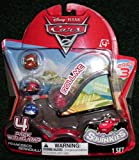 Squinkies Disney Cars 2 Series 3 Bubble Pack Includes 4 Squinkies Ramp by Blip Toys (English Manual)