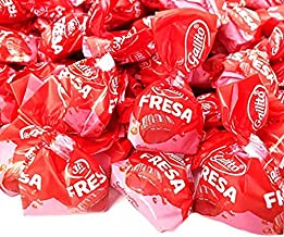 CrazyOutlet Pack - Gallito Fresa Strawberry Buds Bon Bons Filled Hard Candy, Sachet Wrap, 2 Pounds