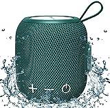 Bluetooth Altavoces Portátiles Mini Bluetooth 5.0 Doble Emparejamiento Inalámbrico Altavoz, Sonido Envolvente 360 HD y Graves Estéreo Ricos para Viajes, Piscina y Ducha al Aire Libre