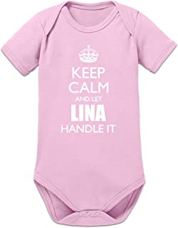 Shirtcity Keep Calm and Let LINA Handle It Baby Strampler by