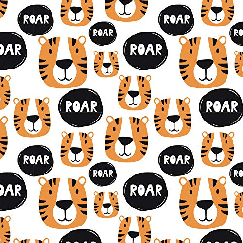 Tiger Wrapping Paper - Safari Gift Wrap - Folded Flat 30 x 20 Inch (3 Sheets)